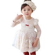 Girls' long-sleeved dresses from  Meimei Fashion Garment Co. Ltd