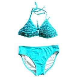 2017 Brazilian Sky Blue Triangle Bikini Set from  Xiamen Reely Industrial Co. Ltd