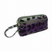 Promotional and beautiful leather cosmetic bag from  Fuzhou Oceanal Star Bags Co. Ltd