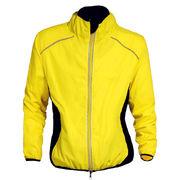 Windproof bicycle jacket from  Fuzhou H&f Garment Co.,LTD