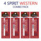 4 Pack Spirit Electronic Cigarette Disposable Western Flavor Manufacturers