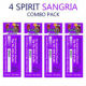 4 Pack Spirit Electronic Cigarette Disposable Sangria Flavor Manufacturers