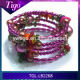 2014 fashion 5 wrap around bali bead bracelet Manufacturers